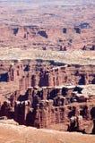 Den storslagna synvinkeln förbiser närbilden, Canyonlands, Utah Fotografering för Bildbyråer