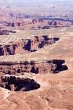 Den storslagna synvinkeln förbiser närbilden, Canyonlands, Utah Royaltyfri Bild