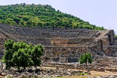 Den storslagna teatern på Ephesus Arkivbild