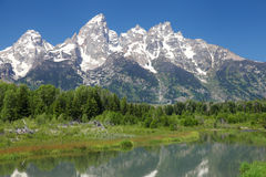Den storslagna Tetonsen i Wyoming royaltyfri bild