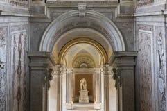 Den storslagna trappuppgången för heder, Caserta Arkivbilder