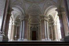 Den storslagna trappuppgången för heder, Caserta Royaltyfri Fotografi