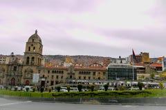 Den storstads- domkyrkan i La Paz, Bolivia royaltyfria bilder