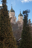 Den storstads- domkyrkan Iasi Arkivfoton