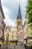 In den Straßen von Aachen - Deutschland Stockfoto