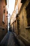 In den Straßen von Tropea Stockbild