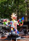 Den Stravinsky springbrunnen är en offentlig springbrunn Royaltyfri Bild