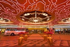 Den studiostadshotellet och kasinot tillgriper i Macao Fotografering för Bildbyråer