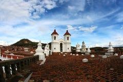 Den Sucre staden taklägger cityscape Arkivfoton