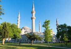 Den Suleymaniye moskén i Istanbul, Turkiet Arkivbild