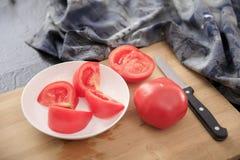 Den sunda och läckra tomaten bantar mat arkivfoto