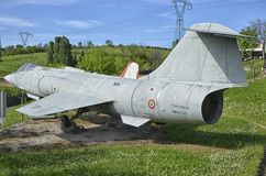 Den supersoniska militärt jaktplan för F-104 Starfighter Royaltyfri Bild