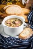 Den sura soppan som göras av rågmjöl Royaltyfri Bild