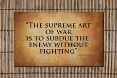 Den suveräna konsten av kriget - Sun Tzu Arkivfoto