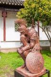 Den Suzhou piken parkerar tänkare för showskulptursamurajer Royaltyfria Foton
