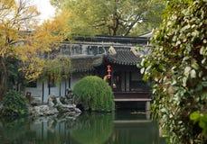 Trädgårdar i Suzhou, Kina arkivfoton
