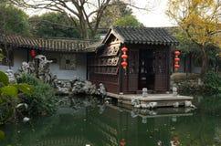 Trädgårdar i Suzhou, Kina arkivbilder