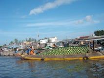 Den sväva marknaden Cai Rang arkivfoton