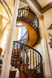 Den sväva trappuppgången i det Loretto kapellet i Santa Fe som är ny mig Fotografering för Bildbyråer