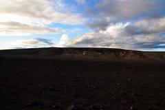 Den svarta öknen av Island royaltyfria bilder