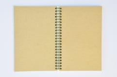 den svarta anteckningsboken återanvänder spiral Arkivfoto