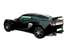 den svarta bilen isolerade sporten Arkivbild