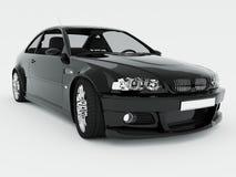den svarta bilen isolerade sporten Royaltyfri Foto