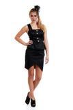 den svarta blonda tonåringen för klänninghuvud p skyler slitage Arkivfoto