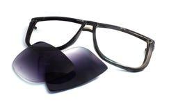 Den svarta gamla solglasögon är avgörande Royaltyfria Bilder