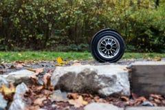 Den svarta hoverboardsidosikten Arkivfoto