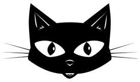 Den svarta katten Fotografering för Bildbyråer