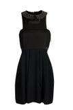 den svarta klänningen snör åt arkivfoton