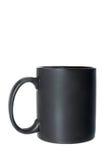 Den svarta koppen eller rånar för kaffe, te eller någon varm dryck Royaltyfri Fotografi