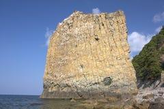 den svarta kustrocken seglar havet Fotografering för Bildbyråer