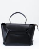 Den svarta läderhandväskan Royaltyfria Foton