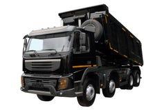 Den svarta lastbilen Royaltyfria Bilder