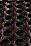 Den svarta monk'sen allmosa-bowlar 108 Arkivbild