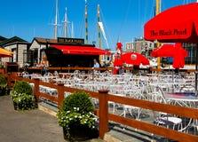 Den svarta pärlemorfärg restaurangen, Newport, RI Royaltyfri Fotografi