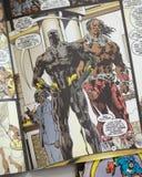 Den svarta pantern förundra sig komikersuperheroen Royaltyfri Fotografi