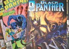 Den svarta pantern förundra sig komikersuperheroen Arkivfoto