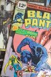 Den svarta pantern förundra sig komikersuperheroen Royaltyfria Bilder
