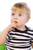 den svarta pojkehatten little sitter Royaltyfria Bilder