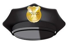 Den svarta polisen Cap Arkivbild