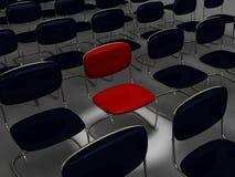 den svarta stolen chairs många red Fotografering för Bildbyråer