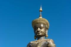 Den svarta stora Tammaracha buddha statyn i det Petchabun landskapet, Th Fotografering för Bildbyråer