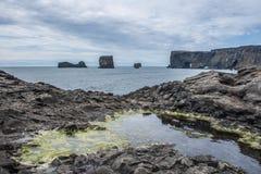 Den svarta stranden Fotografering för Bildbyråer