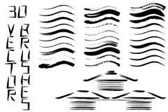 Den svarta vektorborsten slår samlingen Fotografering för Bildbyråer
