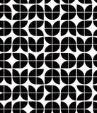 Den svartvita abstrakta geometriska sömlösa modellen, kontrasterar beträffande Arkivbild