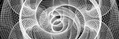 Den svartvita abstrakta tunnelen Arkivfoton