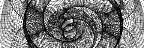 Den svartvita abstrakta tunnelen Royaltyfria Bilder